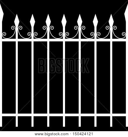 Seamless Tileable Iron Fence Selection Mask / Alpha 3D Illustration