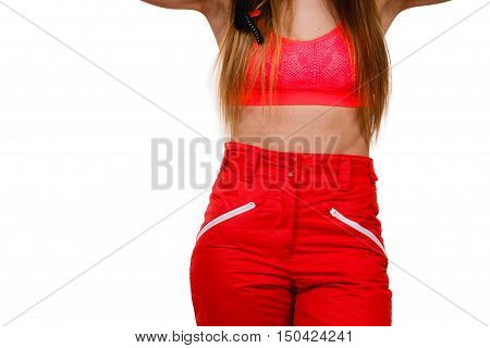 Fit Girl With Abdomen.