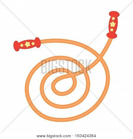 Skipping rope cartoon icon. Illustration for web and mobile.