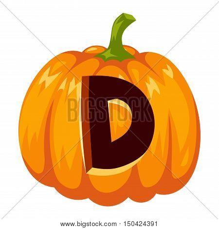 Spooky halloween font alphabet magical pumpkin letter. Halloween font alphabet typography text spooky vegetable. Horror art graphic isolated grunge typography halloween font alphabet letter.