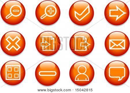 Vektor-Illustration der verschiedenen Symbole der Websitenutzung und der Internetnutzung