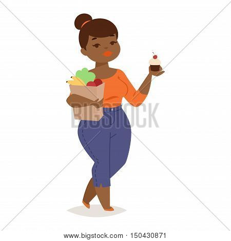 Fat people vector girl flat character illustration. Body symbol people fat girl. Healthy lifestyle person fat girl human large body.