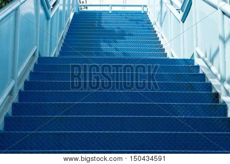 Stairs Of The Pedestrian Overpass In The City