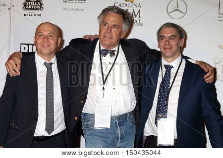 LOS ANGELES - OCT 1:  Alan Watt, David Streit, Alex Streit at the Catalina Film Festival - Saturday at the Casino on October 1, 2016 in Avalon, Catalina Island, CA