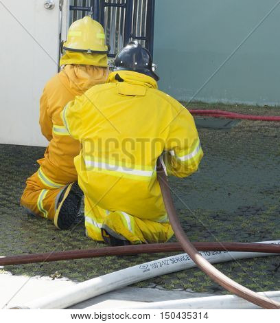 Training Operational Firefighter.