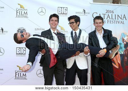 LOS ANGELES - OCT 1:  Brendan Mokler, Cameron Penn, Ricardo Crespo, John Collison at the Catalina Film Festival - Saturday at the Casino on October 1, 2016 in Avalon, Catalina Island, CA