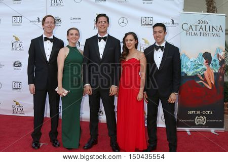 LOS ANGELES - OCT 1:  Ethan Wellin (middle), associates at the Catalina Film Festival - Saturday at the Casino on October 1, 2016 in Avalon, Catalina Island, CA