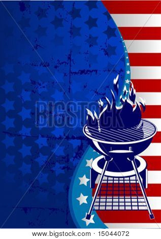 Labor Day  barbeque background with place for your text