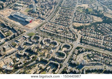 Bird View To Beer-sheva City - Capital Of The Negev. Israel
