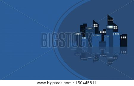 Design vector art city of silhouette collection stock
