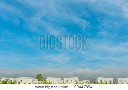 Apartments (condo) And Beautyful Blue Sky
