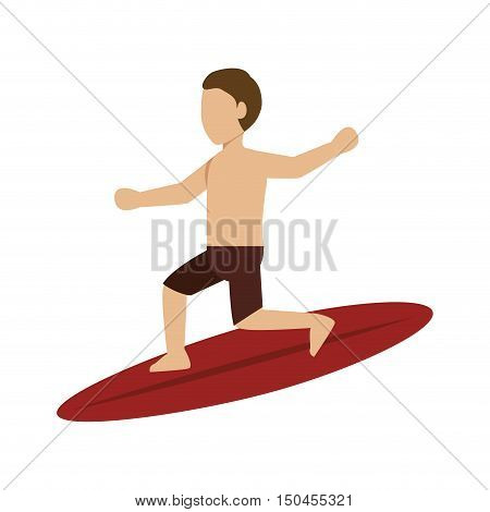 surfer man silhouette. extreme aquatic sport. vector illustration