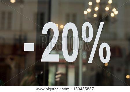 Discount 20 percent off