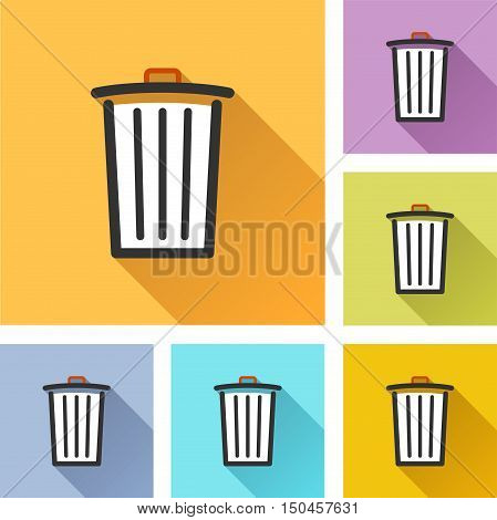 Illustration of delete colorful design set icons