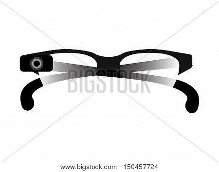 vision glasses lens optical accessory eyewear. vector illustration