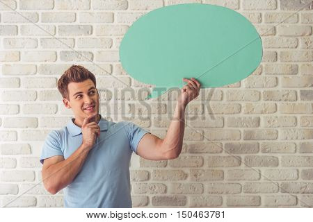 Handsome Guy With Speech Bubble