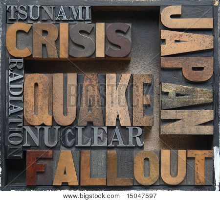 Japan disaster crisis words