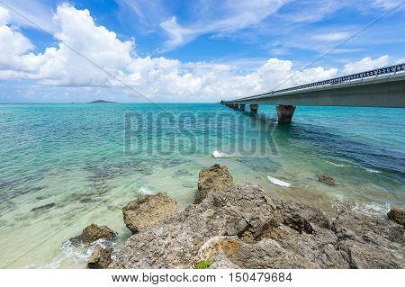 Ikema Bridge in Miyako Island of Okinawa, Japan.