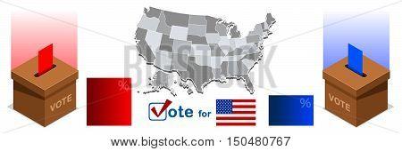 Us Politics Election 2016 winner news Ballot box.