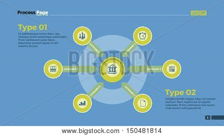 Circle infographic diagram with arrows. Element of layout, presentation, diagram. Concept for infographics, business templates, reports. Can be used for topics like strategy, education, analysis