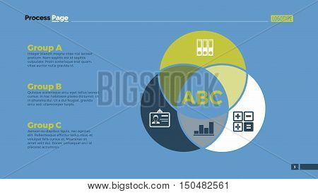 Teamwork Venn diagram with icons. Element of presentation, diagram, layout. Concept for infographics, business templates, reports. Can be used for topics like business strategy, teamwork, analysis