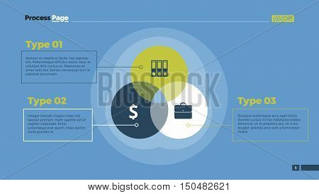 Technology Venn diagram. Element of graphic, presentation, diagram. Concept for infographics, business templates, reports. Can be used for topics like business strategy, technology, finance, analysis