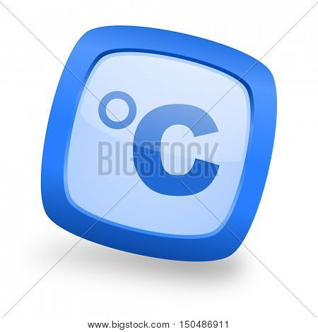 celsius blue glossy web design icon