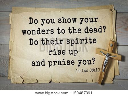 TOP-1000.  Bible verses from Psalms. Do you show your wonders to the dead? Do their spirits rise up and praise you?