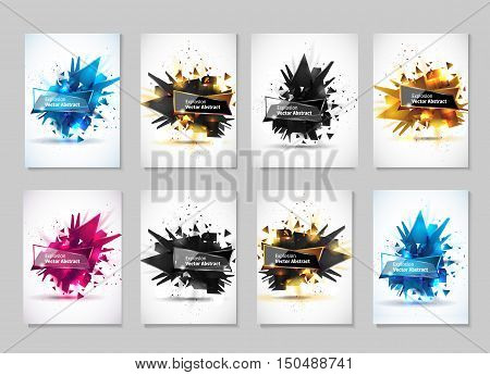 Vector illustration, abstract object, explosion substance matter. Abstract object with the image of the explosion.Abstract template for design.