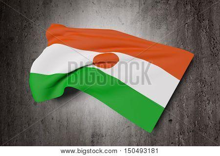 Republic Of Niger Flag Waving