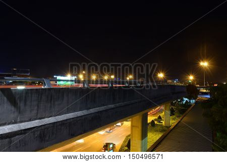 Overpass In Tan Son Nhat Airport At Night