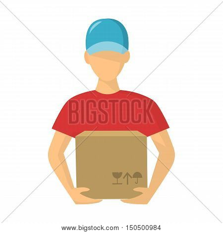 Courier icon of vector illustration for web and mobile design