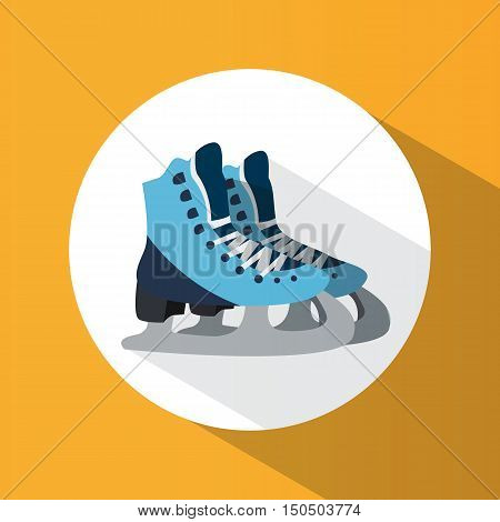 Winter Sport. Skates. Ice Skating. Healthy Lifestyle. Icon. For Your Design