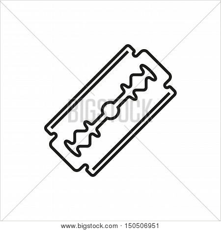 Blade razor icon Created For Mobile Web Decor Print Products Applications. Black icon isolated. Vector illustration.