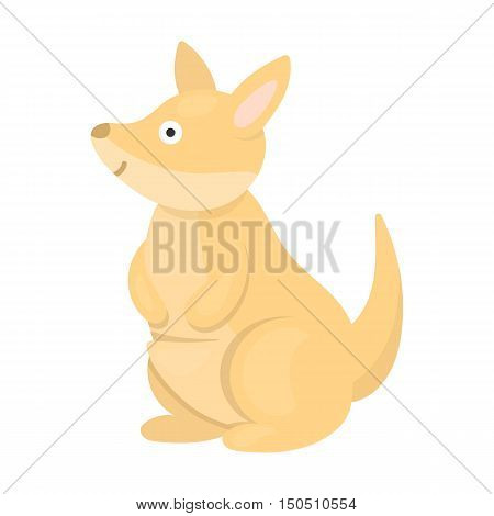 Kangaroo icon cartoon. Singe animal icon from the big animals collection.