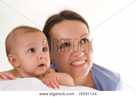 Newborn With Her Mother