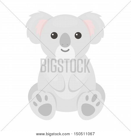 Koala icon cartoon. Singe animal icon from the big animals collection.