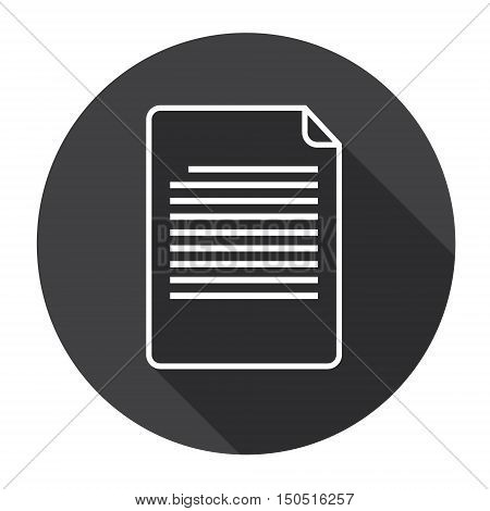 Paper Sheet Document Contract Web Icon Flat Vector Illustration