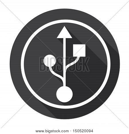 Flash Drive Sign Web Icon Flat Vector Illustration