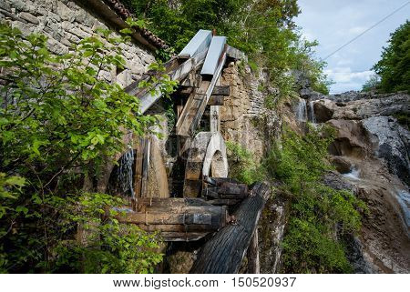 Old Water Mill Building On Mirna River, Kotli, Istra, Croatia