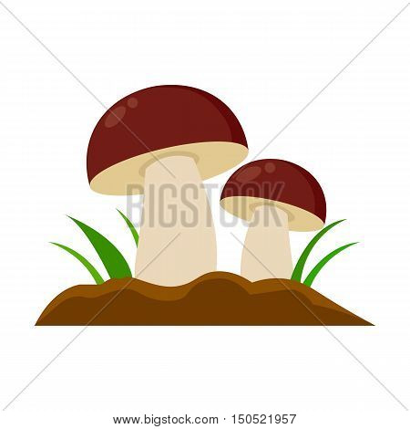 Mushroom icon cartoon. Single plant icon from the big farm, garden, agriculture collection.