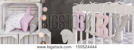 Cuddly Baby Room Decorations In Pastel Colous