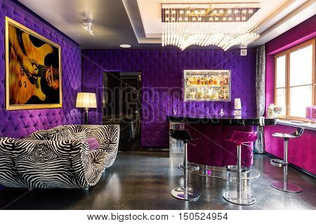 Modern Room With Bold Colours