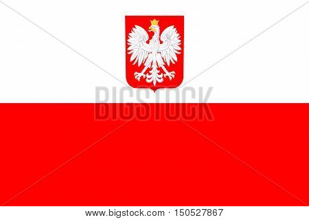 Flag of Poland. Red and white textile