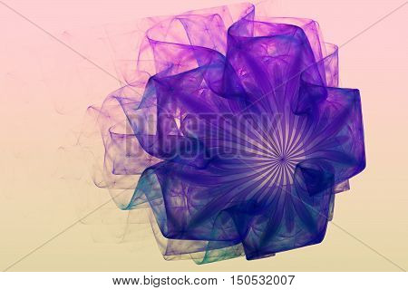 Abstract fractal image with a flower fancy unreal shape and beauty.