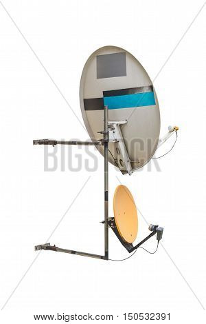 image of satellite dish isolated on white background