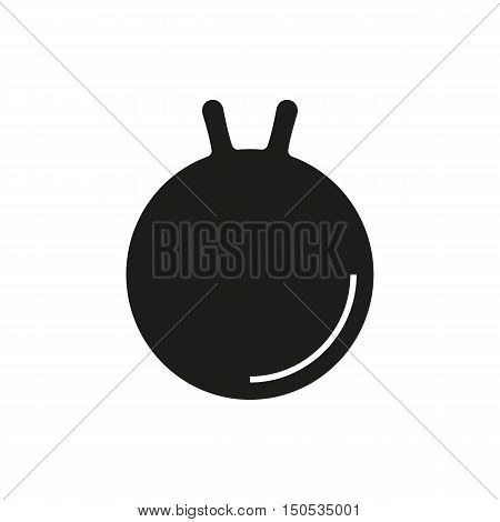 Illustration representing object for exercises and physical therapy pilates ball gym equipment. Ideal for catalogs and educational material and institutional