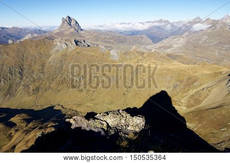 Midi Dossau peak in the Pyrenees, Pyrenees, France.