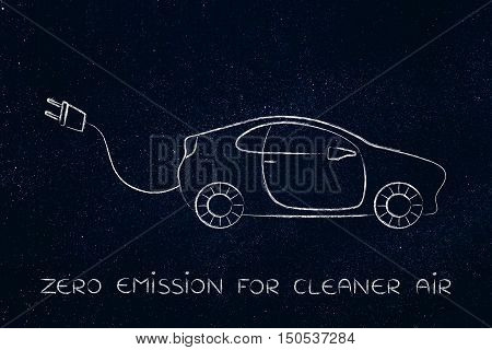 Electric And Hybrid Cars: Vehicle With Big Funny Plug