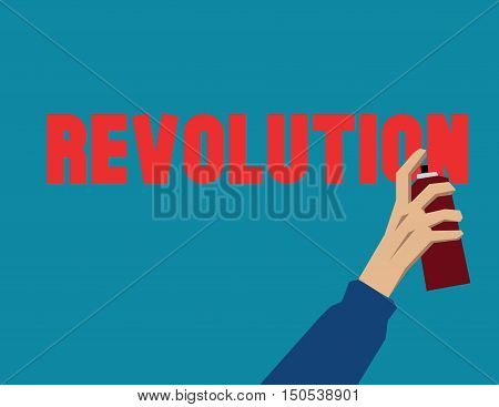Revolution Hand Inside Background. Politics FistCreative Vector Protest Poster Concept